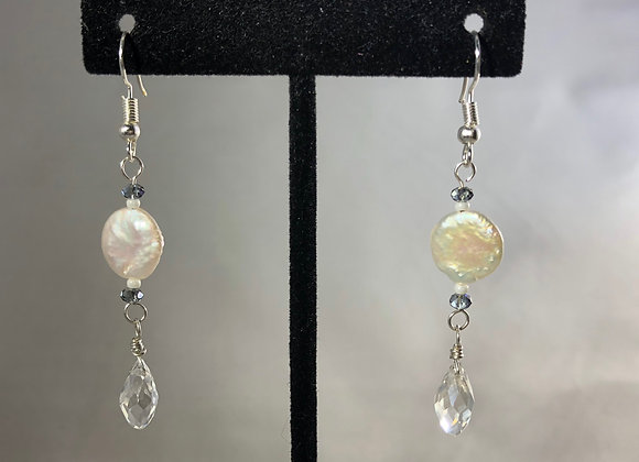 Freshwater Pearl and Briolette Drops
