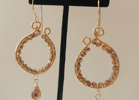 Crystal wrapped Hoops