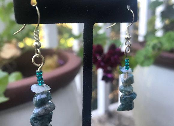 Bead and Emerald Crystal Drops
