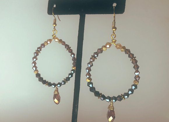 Two toned glass hoops