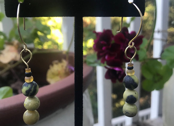Two toned Beaded Drops