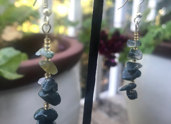 Ombre style Crystal Earrings