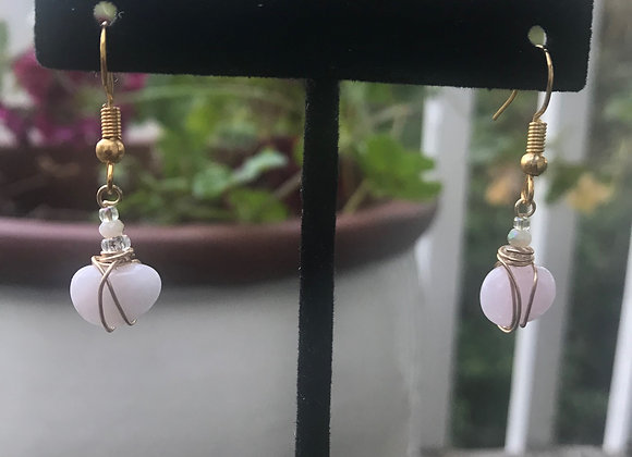 Rose Quartz Children's Earrings