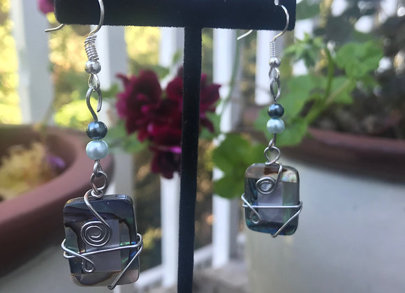 Wire Wrapped Pearl and Bead Drops