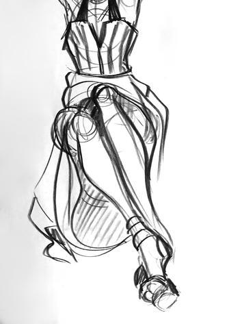 Figure Drawing Detail Shot