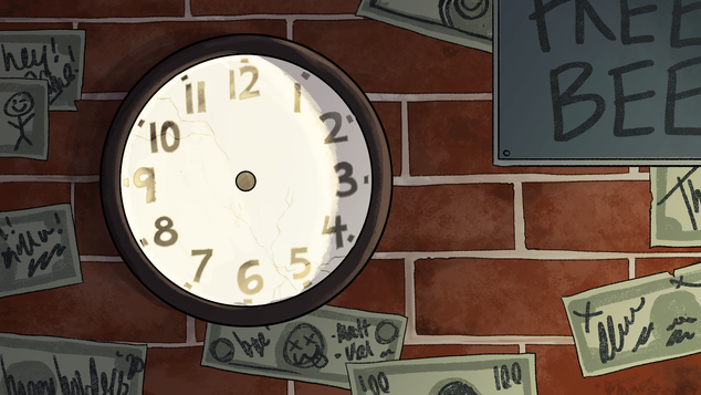 The Job Clock Background
