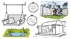 Location Concept Sketches (Toucan)