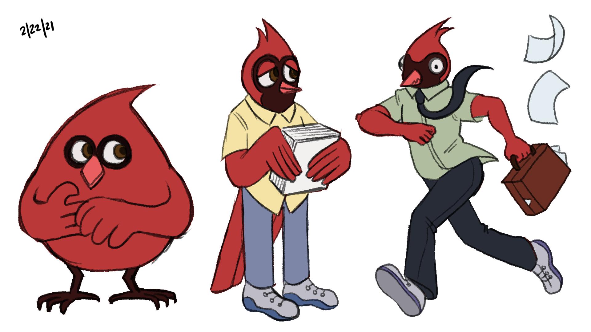 Cardinal Character Designs