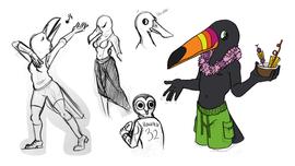 Original Bird Concept Sketch Page 2