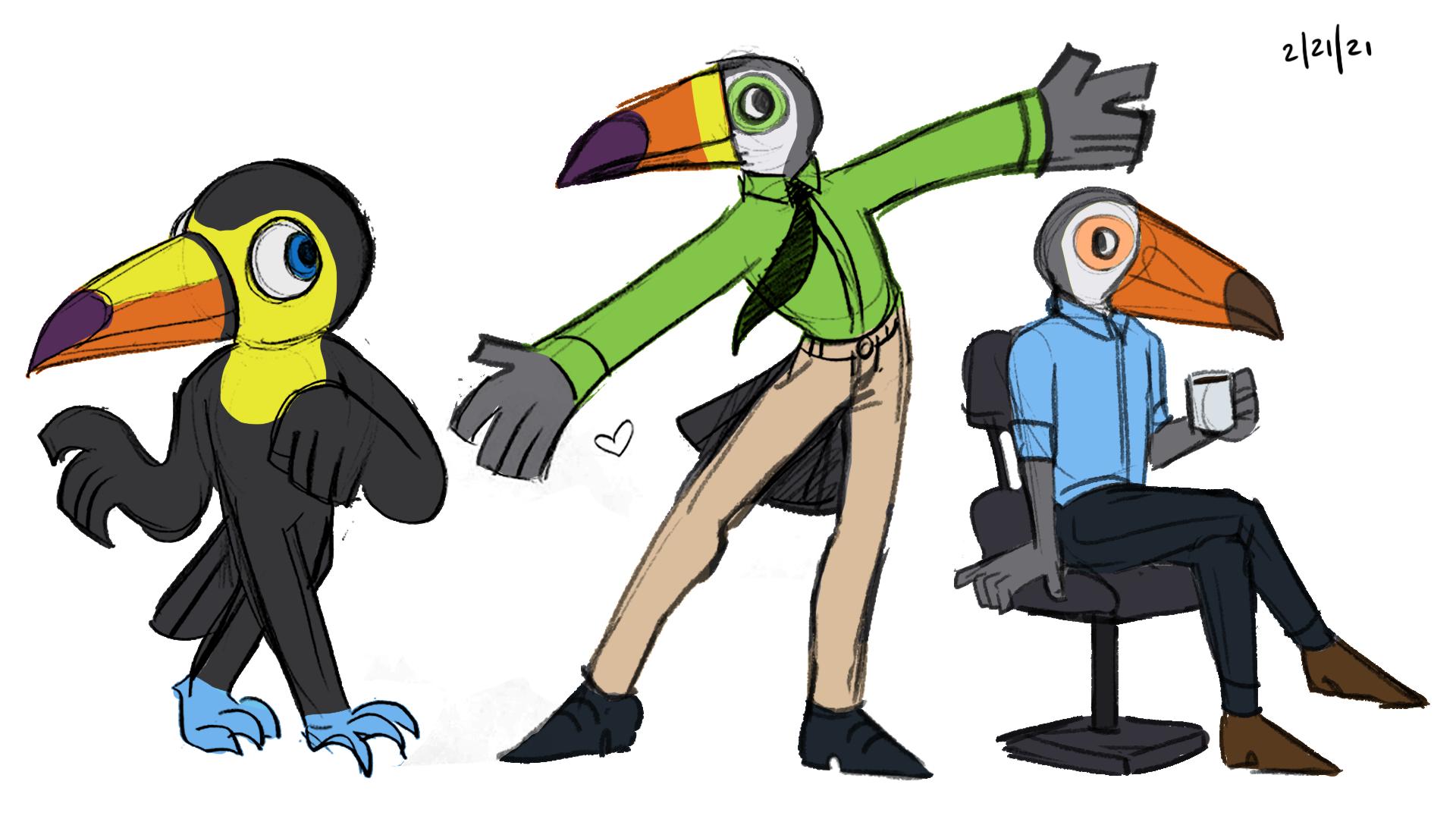 Toucan Character Designs