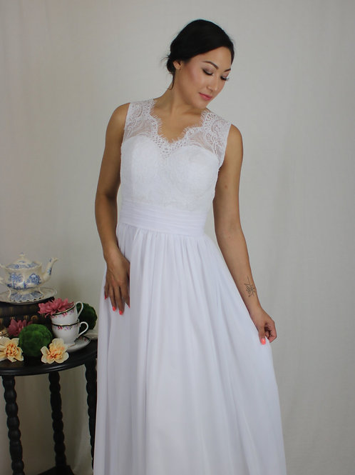 Unstructured Chiffon Gown