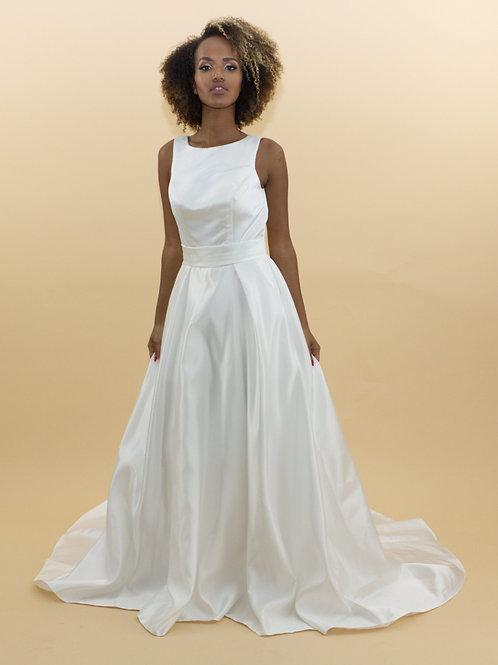 Satin Empire Waist Gown