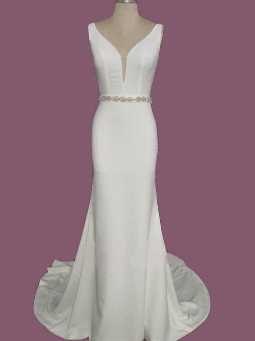 Classy Wedding Dress With Belt