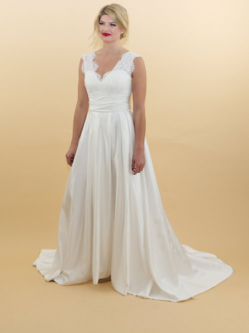 A-Line Satin Gown