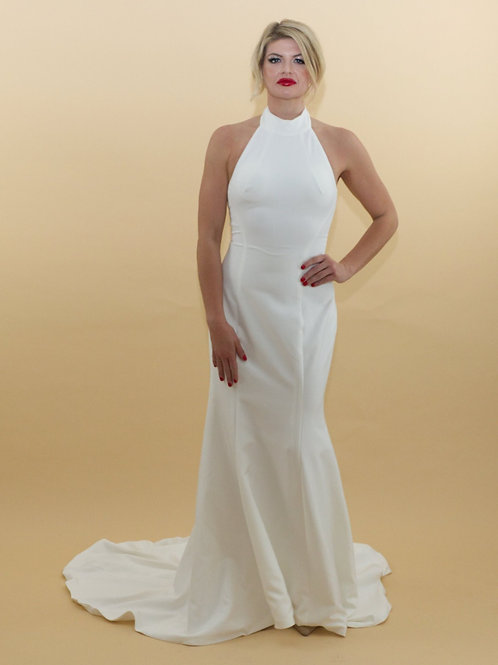 High Neck Stretch Gown