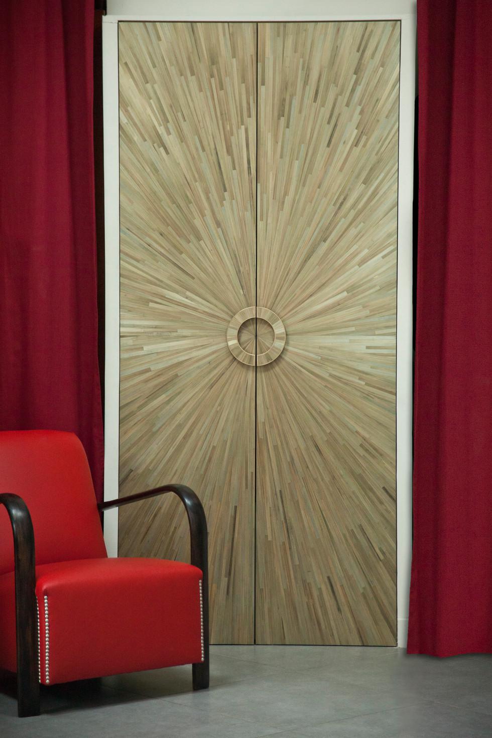 Straw Marquetry door