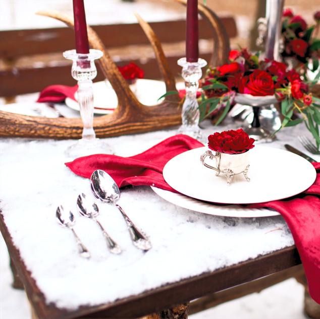 Snowy winter wedding