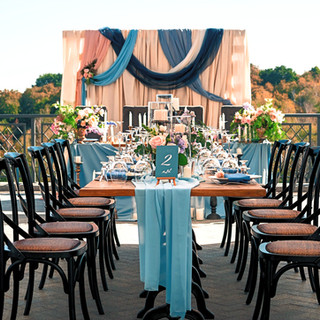 Teal themed wedding