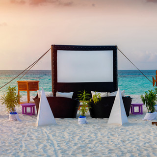 Open air cinema at a corporate incentive