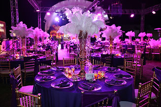 celebration dinner table for gala night.