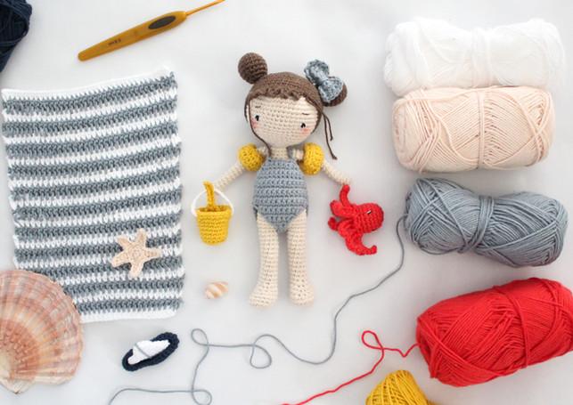 Kit poupée Vanille au crochet par Ligne rétro