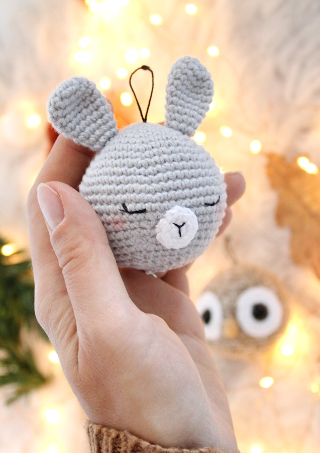 Les boules de Noël animaux de la forêt