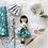 Thumbnail: KIT Suzanne Hygge vert robe longue