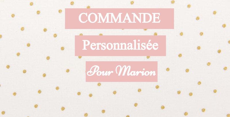 Trophée personnalisée pour Marion