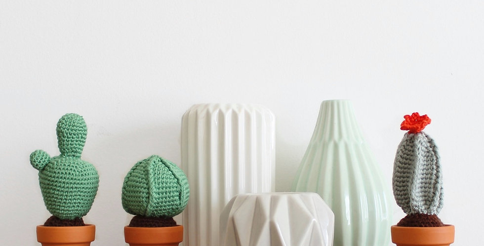 Cactus crochet tutoriel