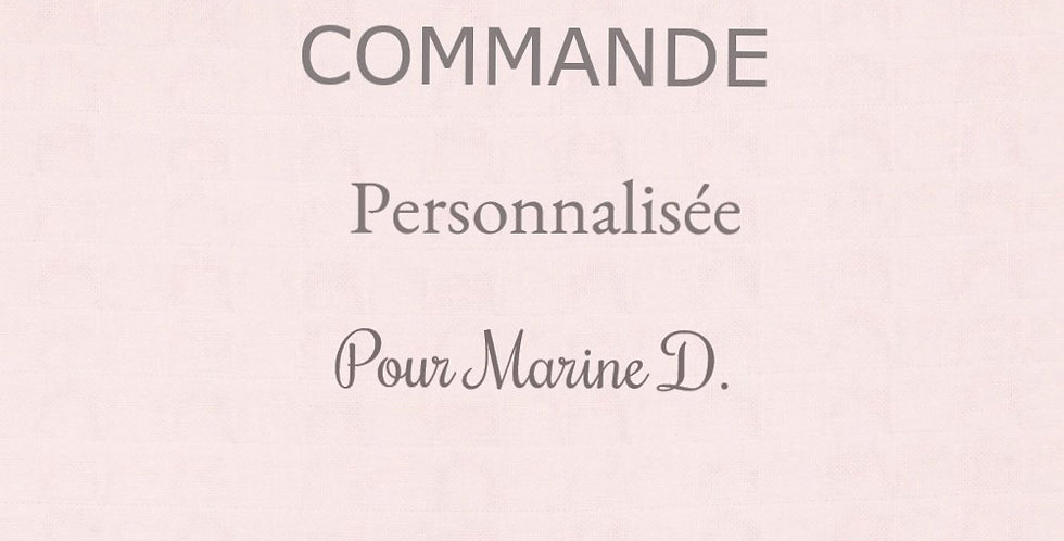 Commande personnalisée Marine D.