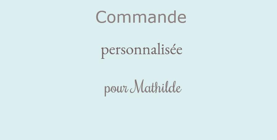 Commande personnalisée pour Mathilde