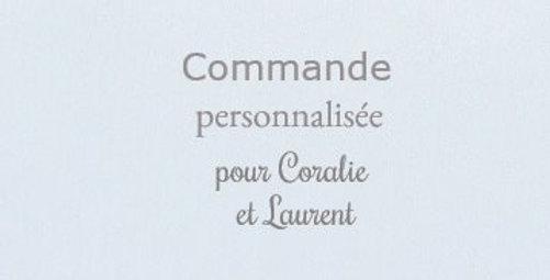 Commande personnalisée pour Coralie