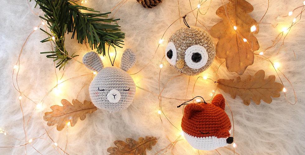 Boules de Noël | Animaux de la forêt