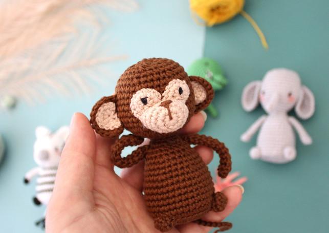 Serge le Singue au crochet | Les minis animaux de la Savane | Amigurumi crochet