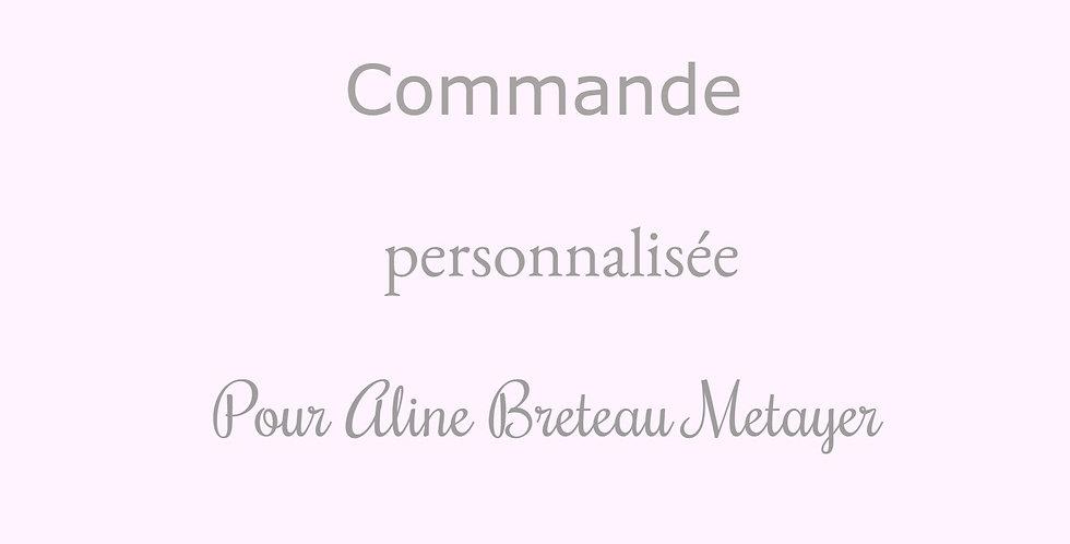 Commande personnalisée pour Aline Breteau Metayer
