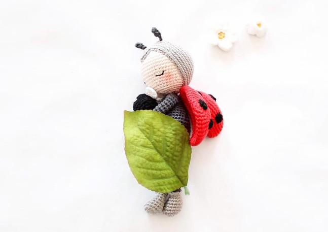 Tutoriel Crochet Chloé la coccinelle et son doudou Casse-croûte l