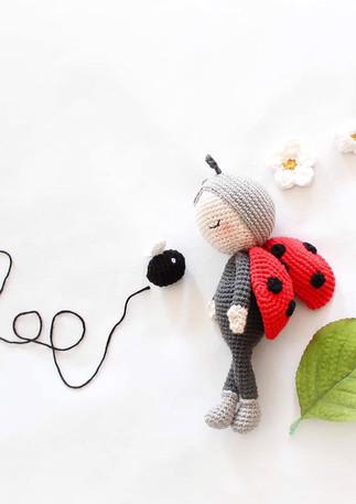 Chloé et Casse-croûte KIT Crochet DIY Ligne rétro