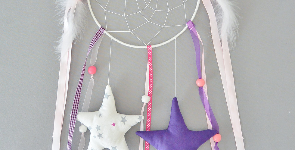 Attrape rêve rose/violet