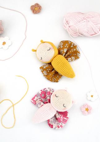"Kit amigurumi crochet ""Ligne rétro"""