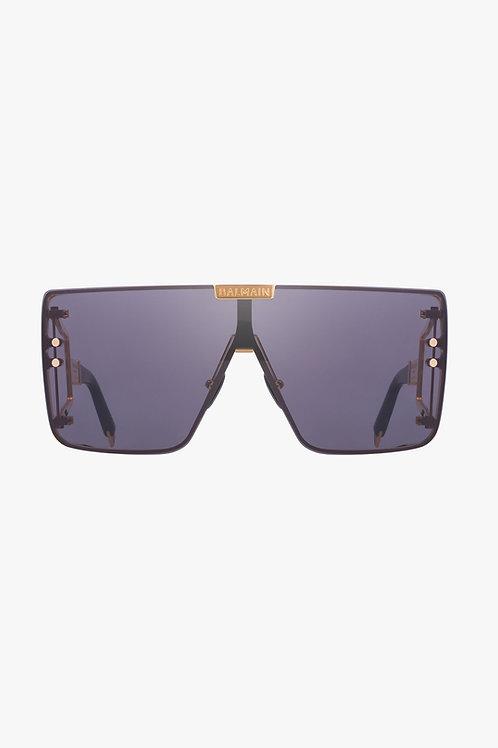 Gold-tone and dark gray metal Wonder Boy sunglasses