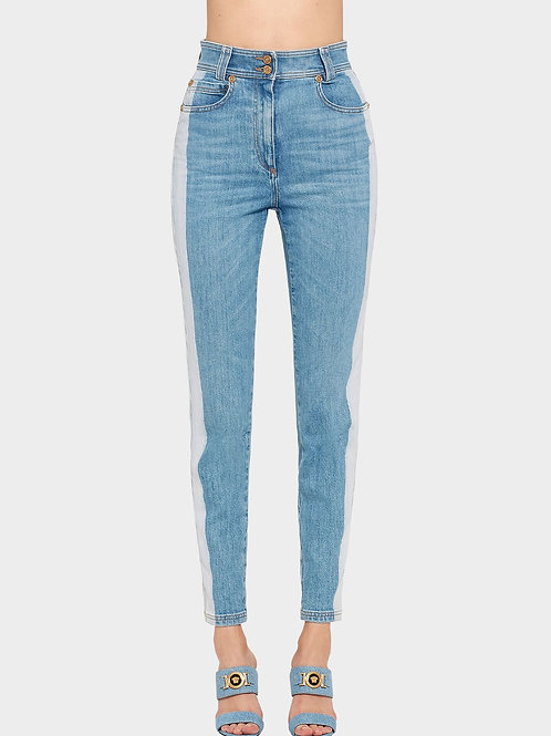 VERSACE - TWO-TONED STONE WASH JEANS