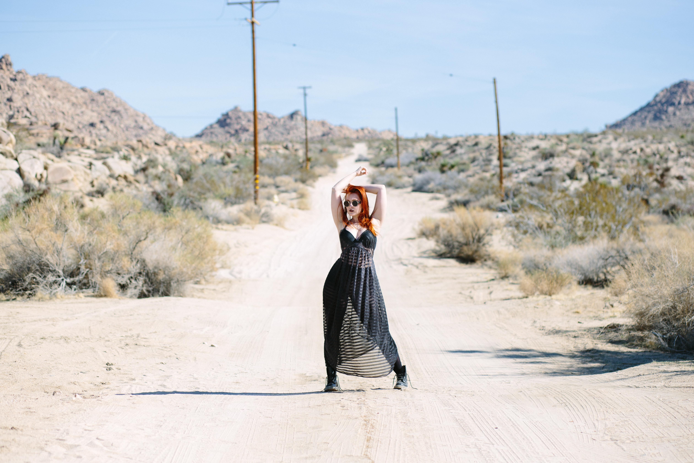 black sheer stripe gown 3