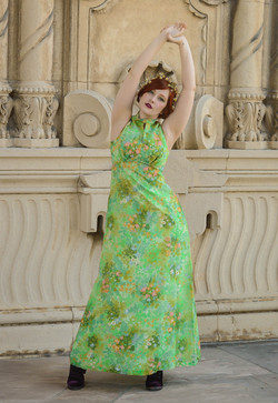 green floral gown 2