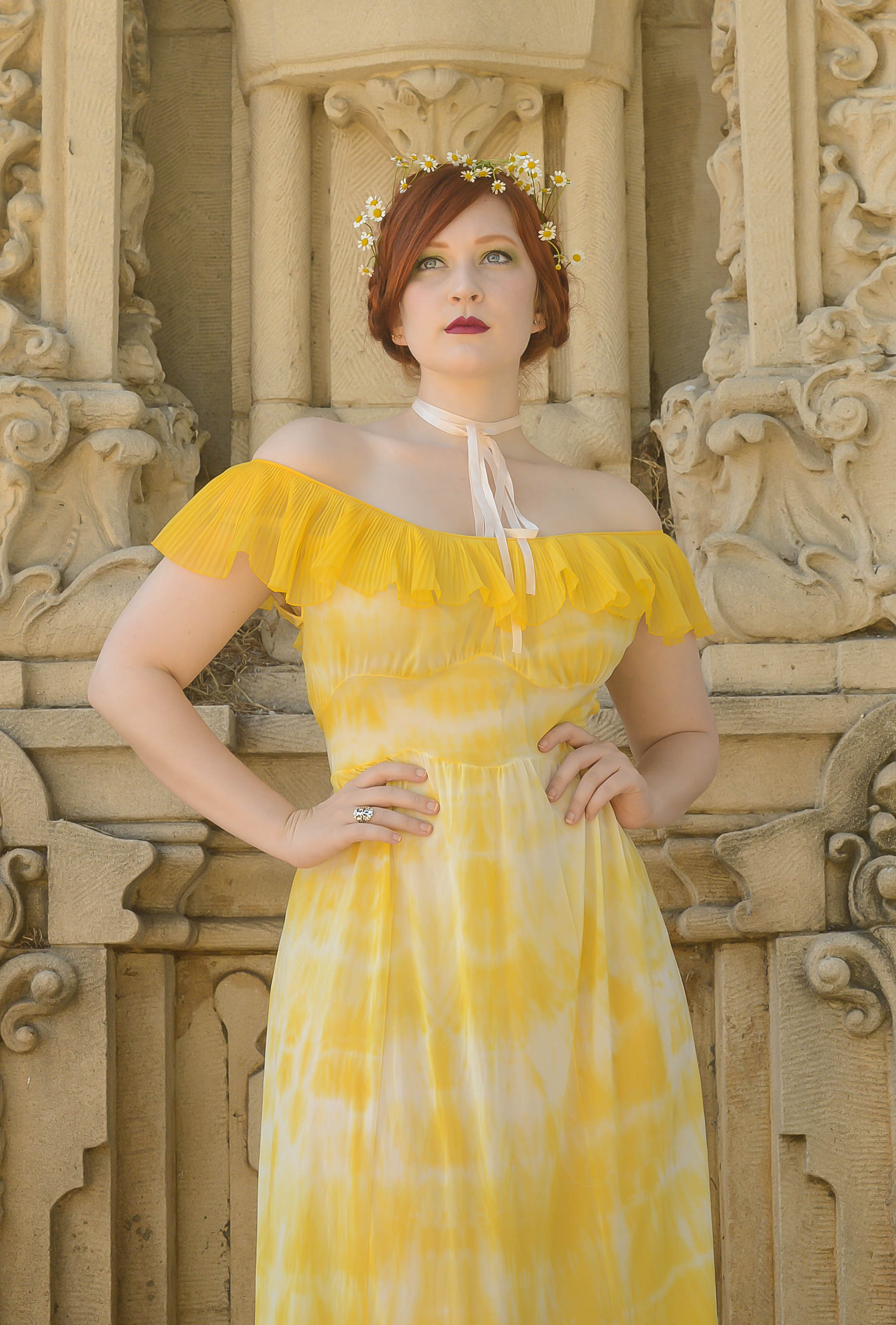 yellow dyed gown 5