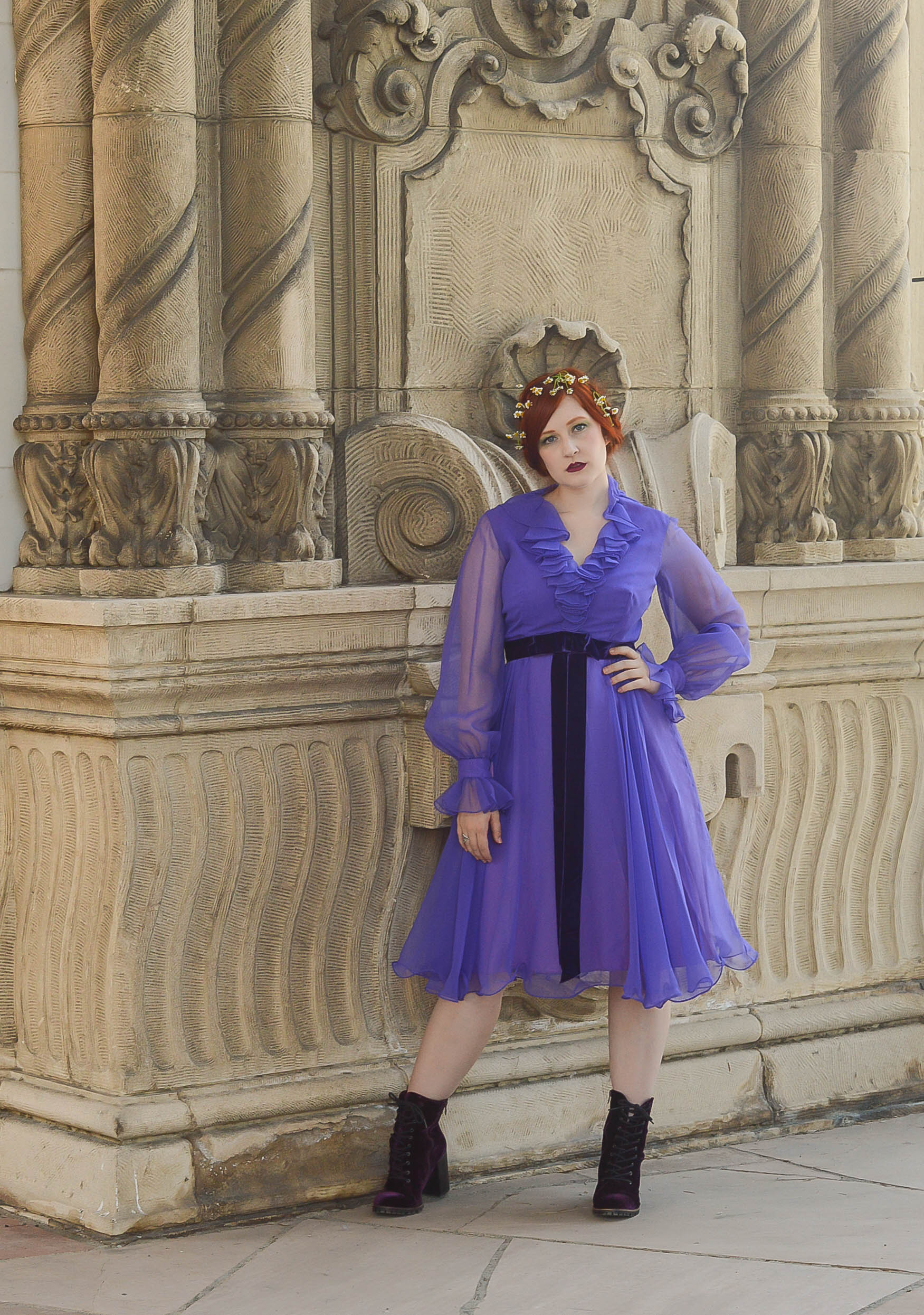 purple ruffle dress 1