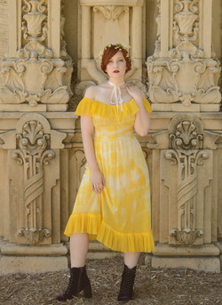 yellow dyed gown 2