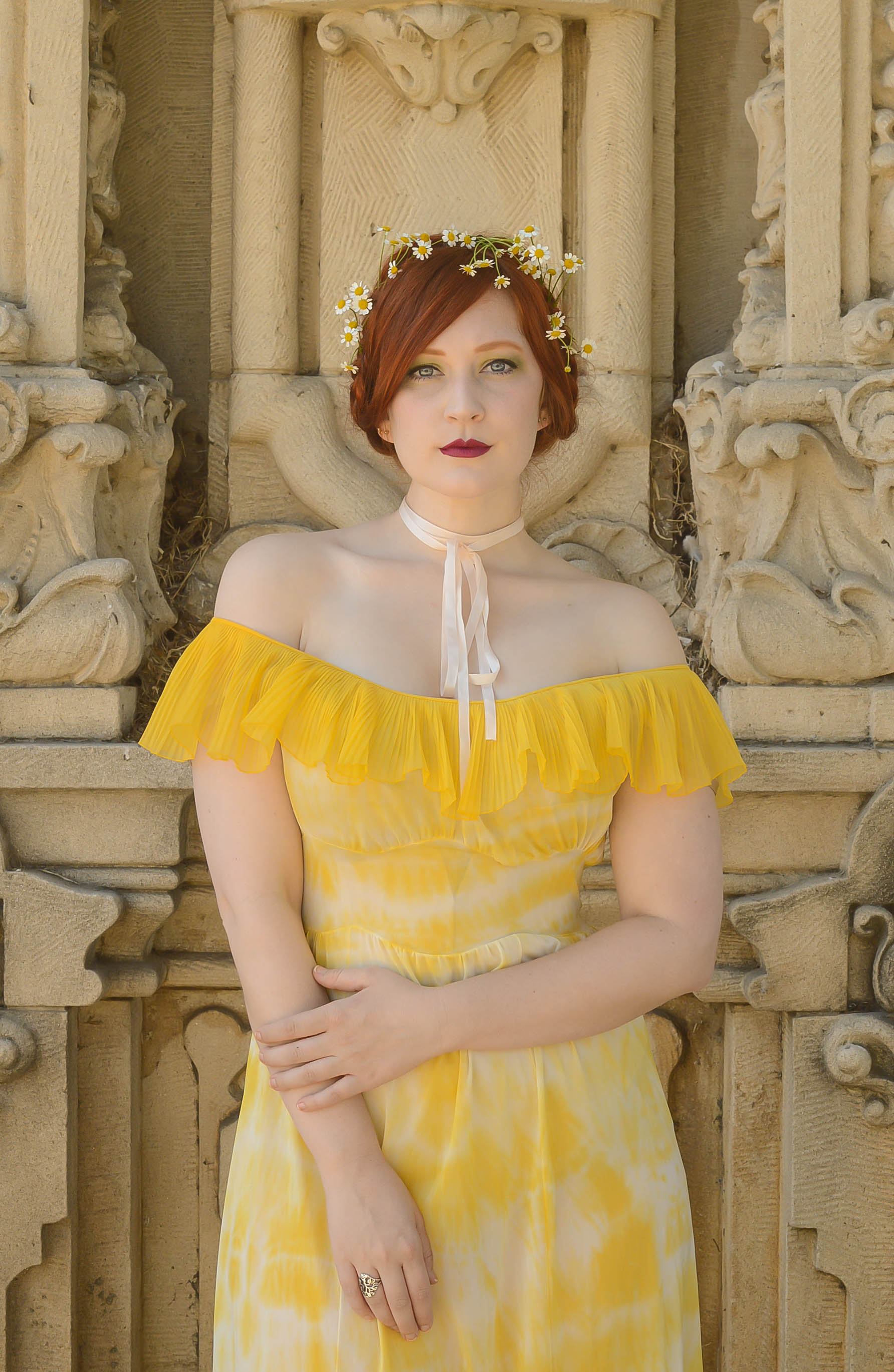 yellow dyed gown 4