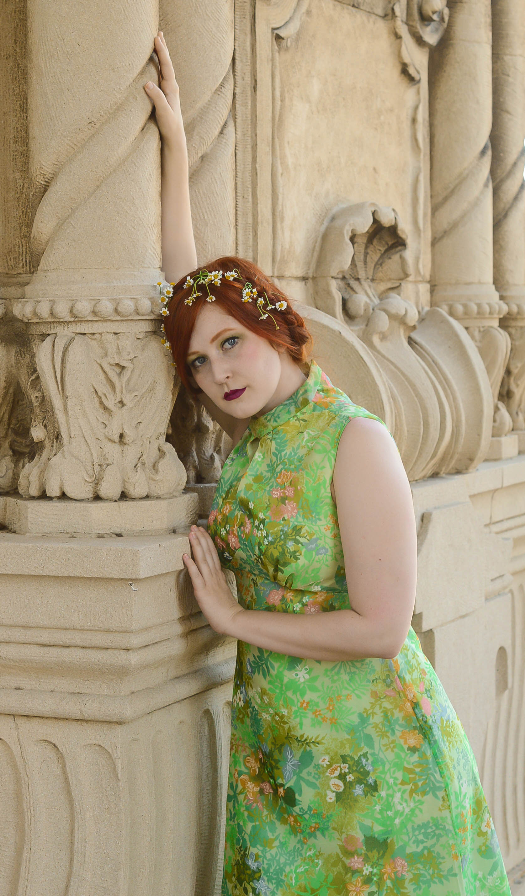 green floral gown 4