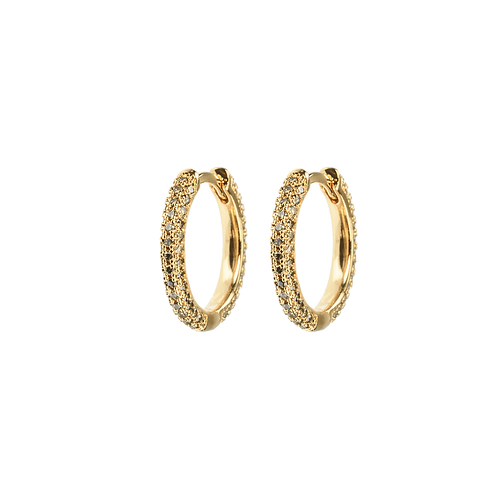 Medium stone covered hoops Army