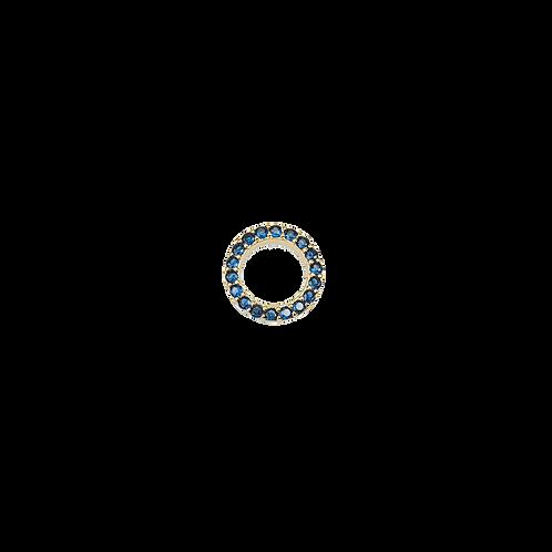 Medium ring charm navy